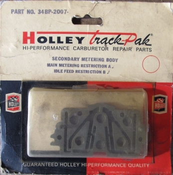 Holley Carburetor Secondary Meter Body plate 0.064 0.031 34BP2007-13