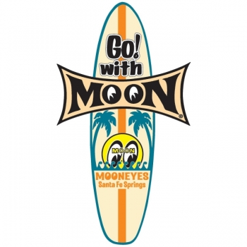 Mooneyes Aufkleber Go! with MOON Surfboard Decal