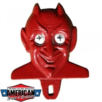MOONEYES Red Devil License Plate Topper Autokennzeichen Nummernschild Topper