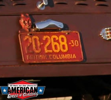 Kennzeichenbeleuchtung Edelstahl License Plate Lamp Hot Rod Ford Model A B