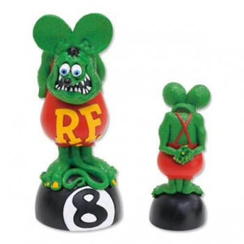 Rat Fink Wackelkopf Bobbing Head On 8 Ball Mooneyes
